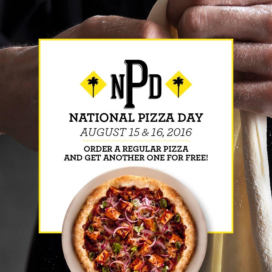 California Pizza Kitchen Buy 1 Take 1 Pizza: August 15-16, 2016 ...