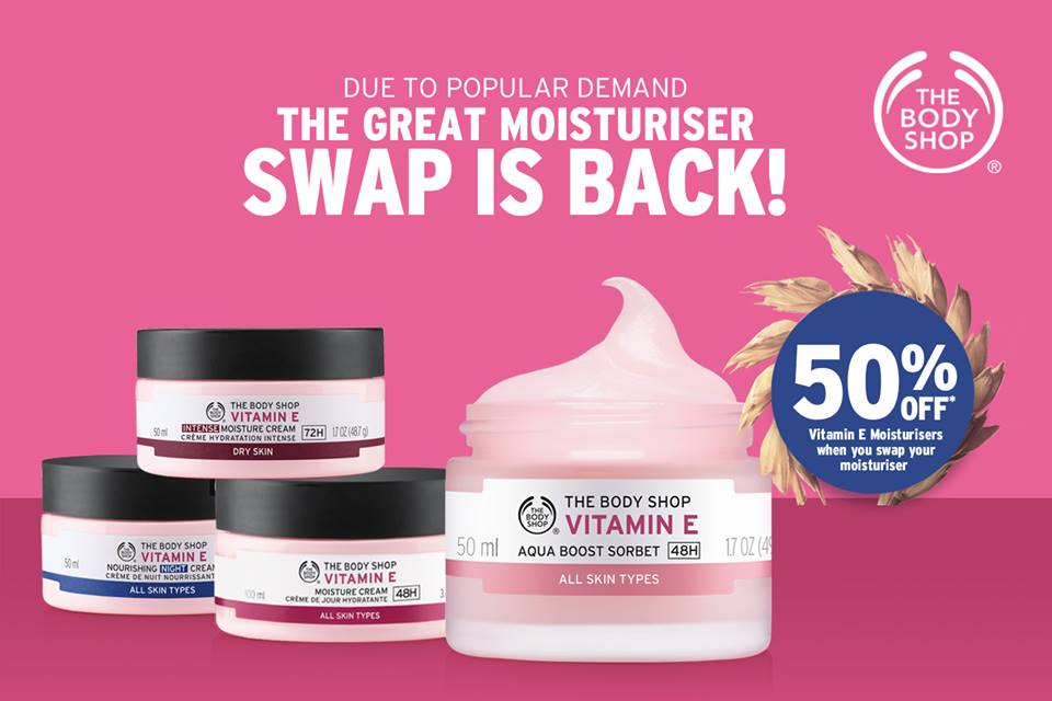 The Body Shop Moisturiser Swap: August 1-24, 2016 | Manila