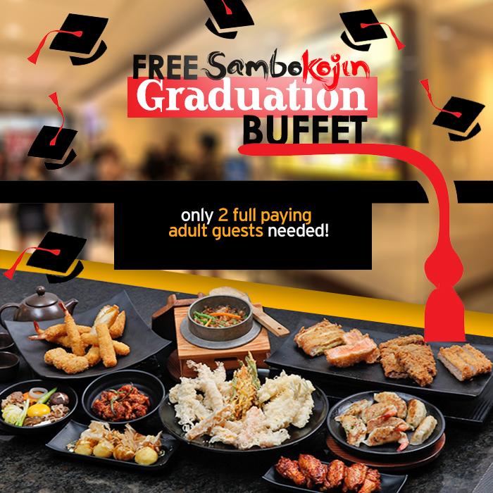 Pleasant Graduation Promo Free Buffet At Sambo Kojin Manila On Sale Download Free Architecture Designs Itiscsunscenecom