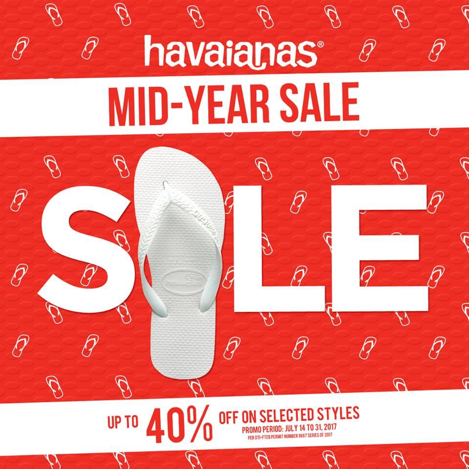 dd0b567380f1b Havaianas Mid Year Sale  Up to 40% Off!! July 14-31