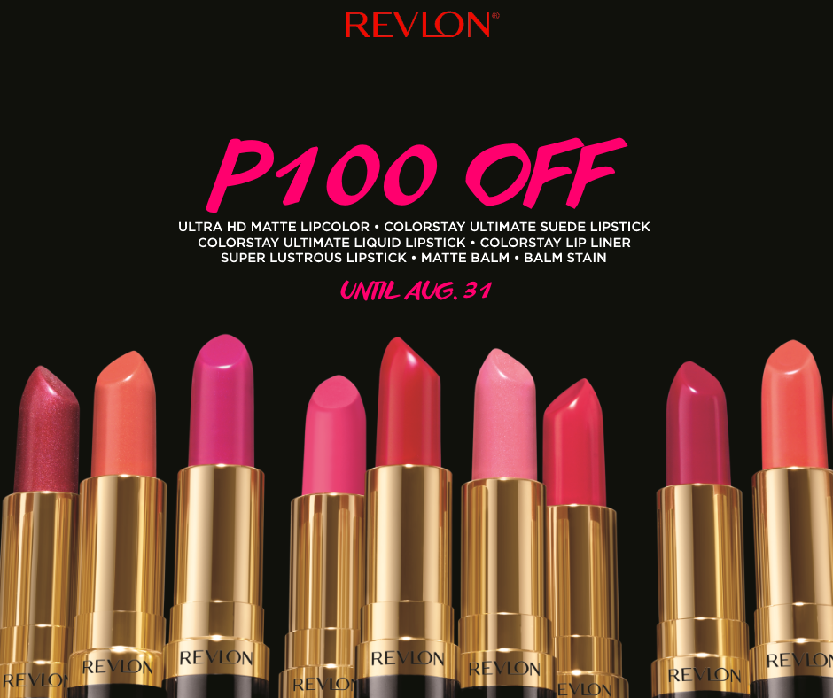 Php100 Off Revlon Lipstick! | Manila On Sale