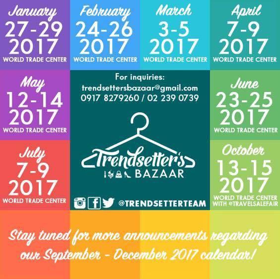 trendsetters bazaar dates and venues september 22 4 world trade center october 13 15 2017 world trade center december tba