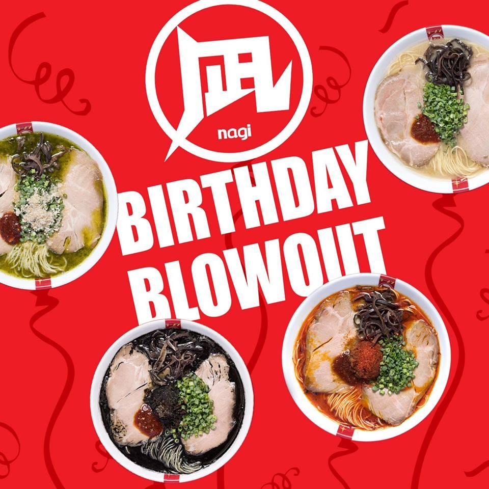 Free Ramen Nagi On Your Birthday Month!