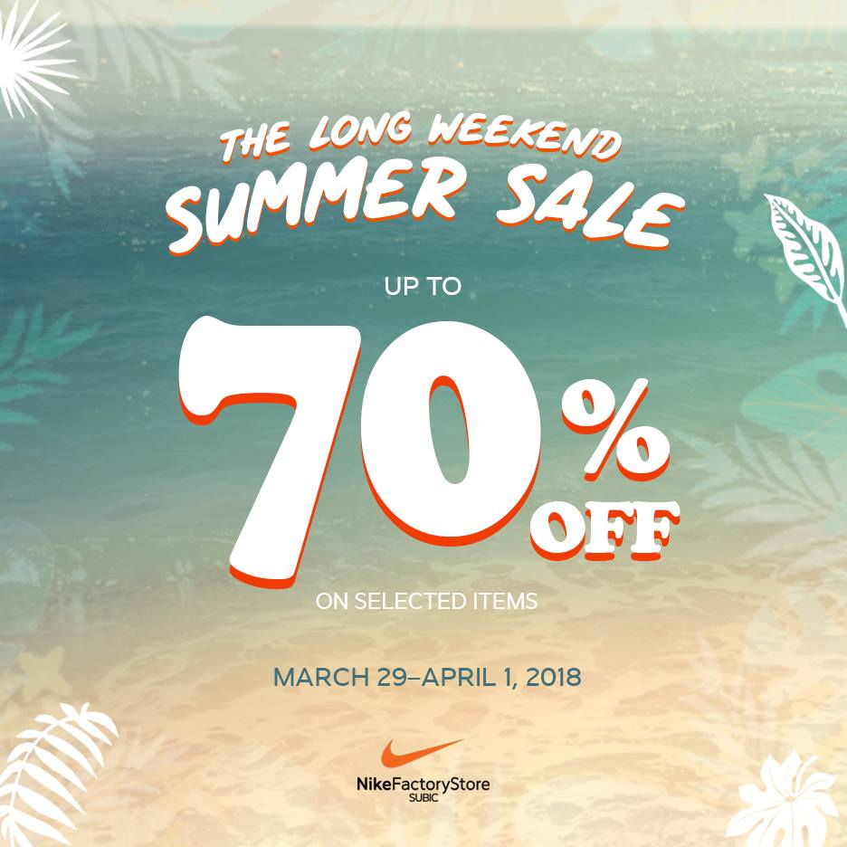 67c60a4e4ce Nike Factory Store Long Weekend Summer Sale March 29 to April 1