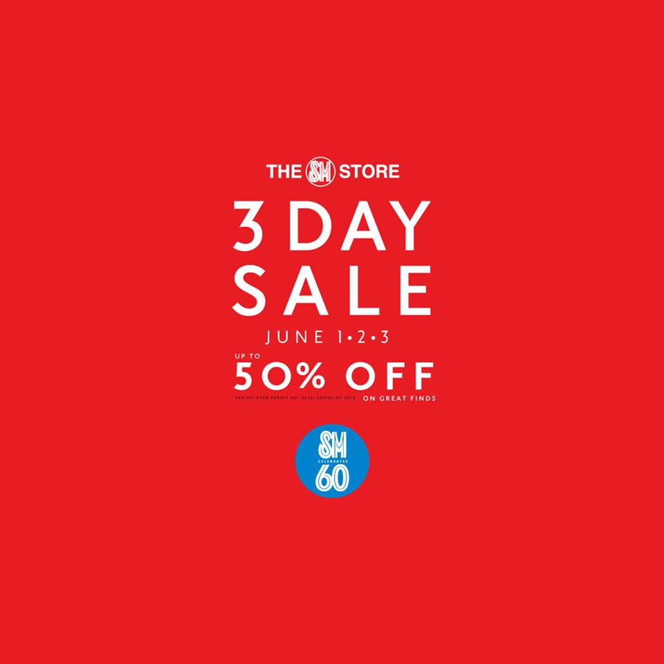 the sm store 3 day sale june 2018 manila on sale