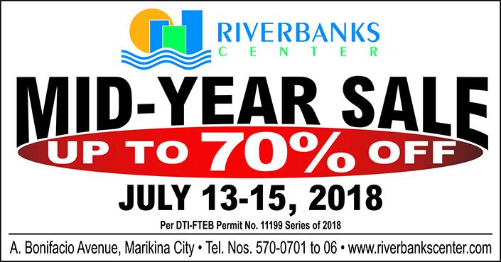 sale retailer e33a8 941a7 Riverbanks Center Mall Wide Sale 2018  Manila On Sale