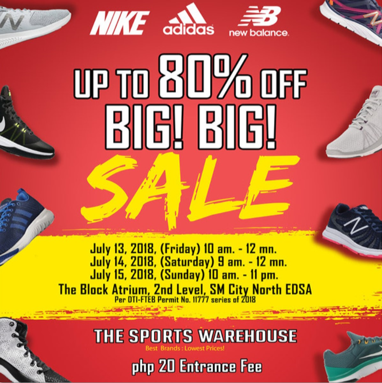 The Sports Warehouse BIG SALE 2018 In SM North Edsa