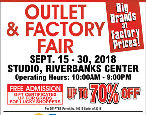 Riverbanks Center Outlet and Factory Sale September 2018
