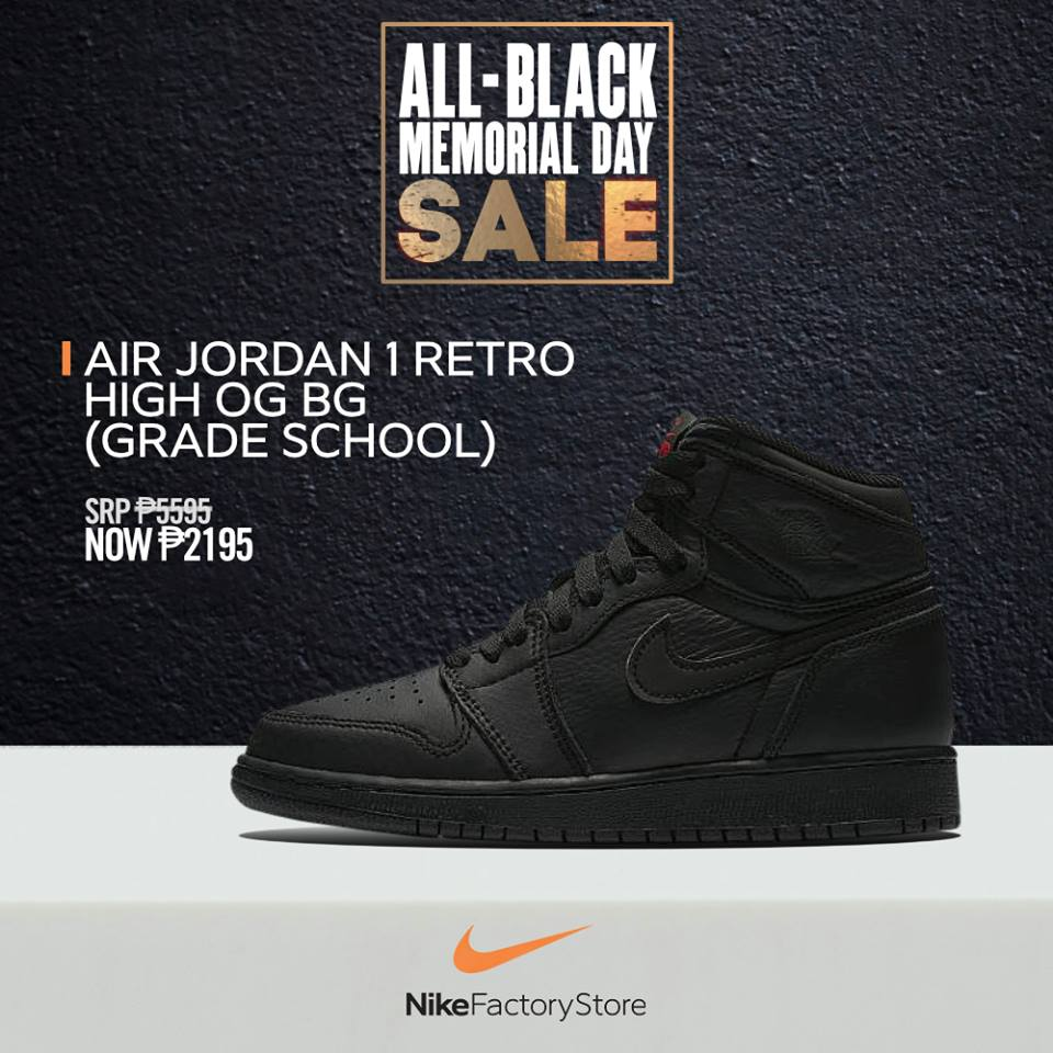 a5c978638 Drop by the Nike Factory Store today and get up to 60% off on BLACK SHOES    APPAREL  MemorialDaySale