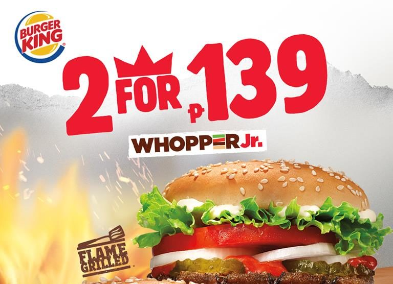 Burger King Buy 1 Take 1 Whopper Jr  December 2018 | Manila