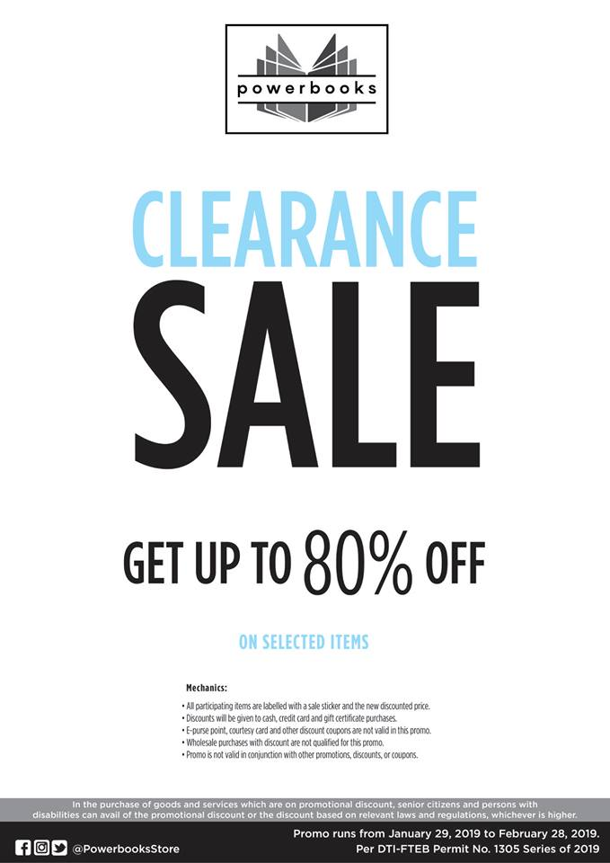 Powerbooks Clearance Sale February 2019 | Manila On Sale