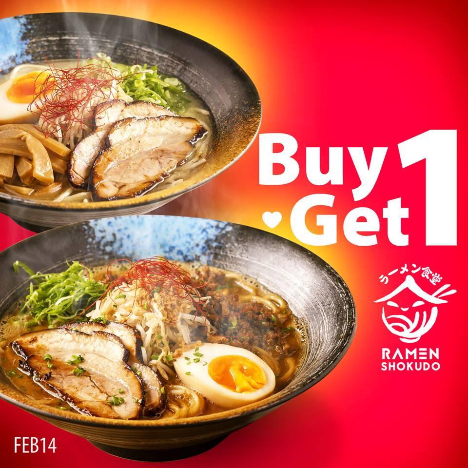 Valentine's Day Food Promo: Buy 1 Take 1 at Ramen Shokudo
