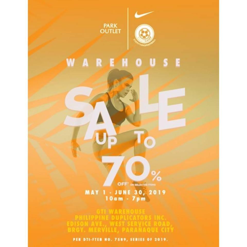 Nike Park Warehouse Sale May 2019 | Manila On Sale