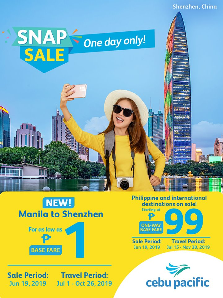 Cebu Pacific Snap Sale June 2019 | Manila On Sale