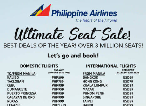 Philippine Airlines Ultimate Seat Sale 2019 Manila On Sale