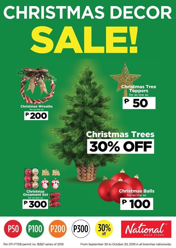 National Christmas Tree 2019.National Book Store Christmas Decor Sale Oct 2019 Manila
