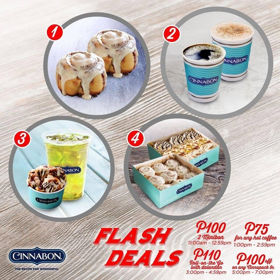 Cinnabon Flash Deals February 2020