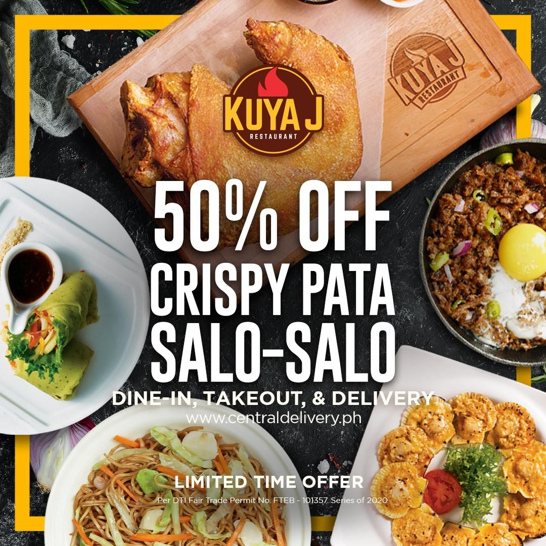 KUYA J - 50% OFF Crispy Pata and Pochero Bulalo! | Manila ...