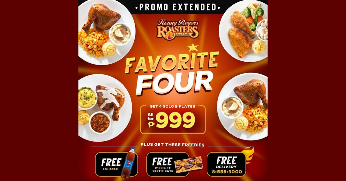 Kenny Rogers Favorite Four for P999 Promo | Manila On Sale